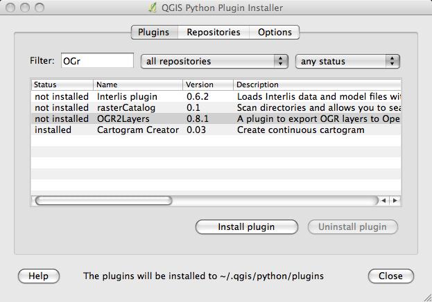4  QGIS Plugins — Basic QGIS and Webmapping v0 4 documentation